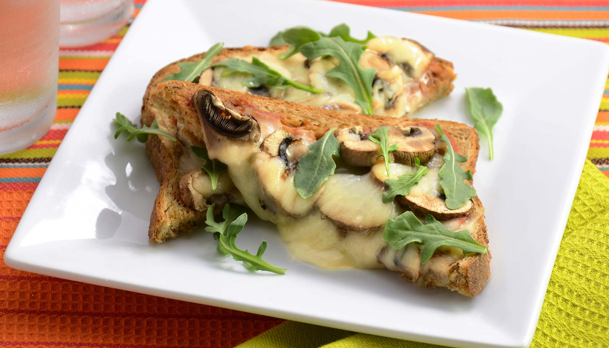 Mushroom Pizza Toast