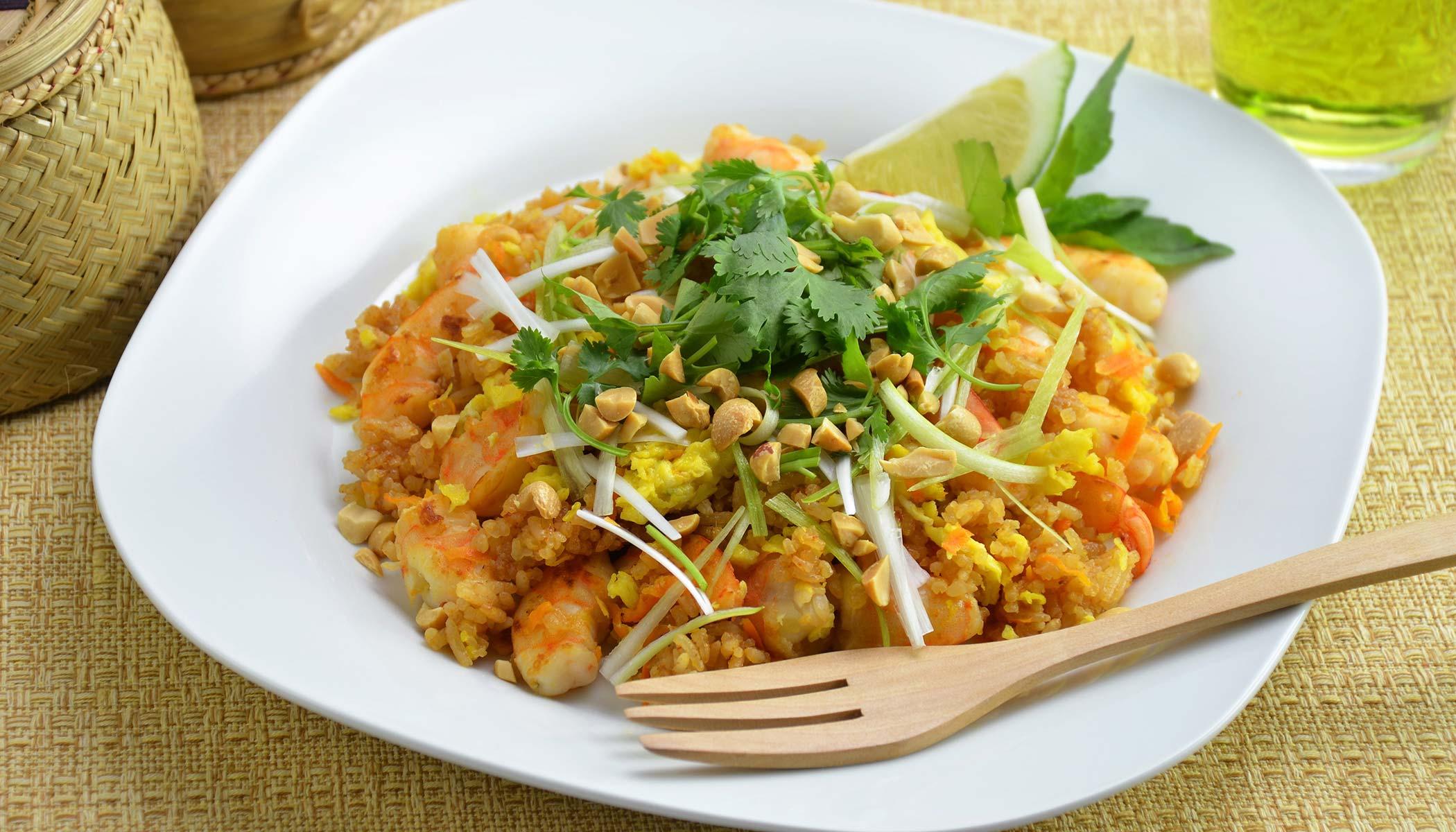 Pad Thai Shrimp Mixed Rice