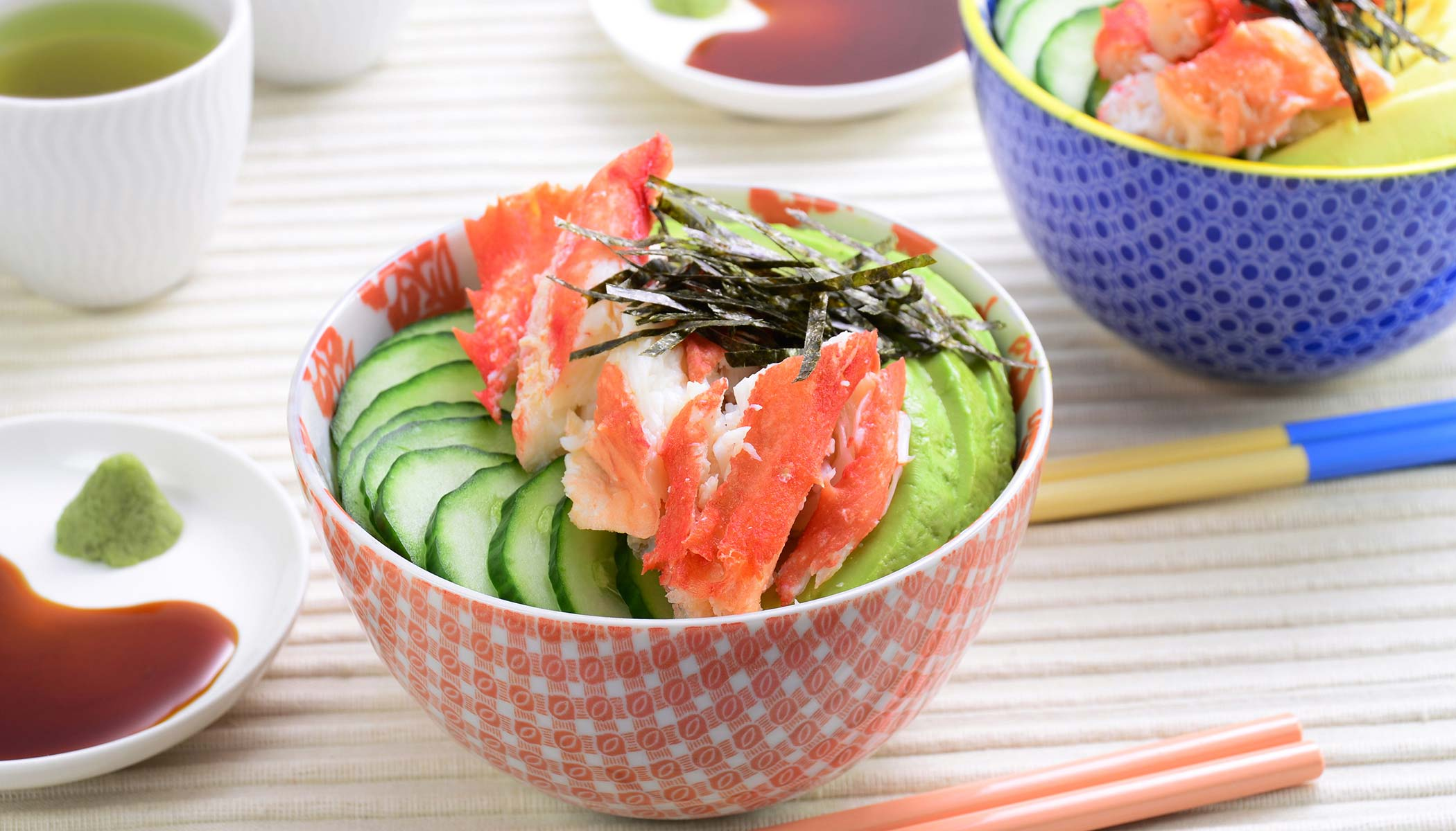 Deconstructed California Roll