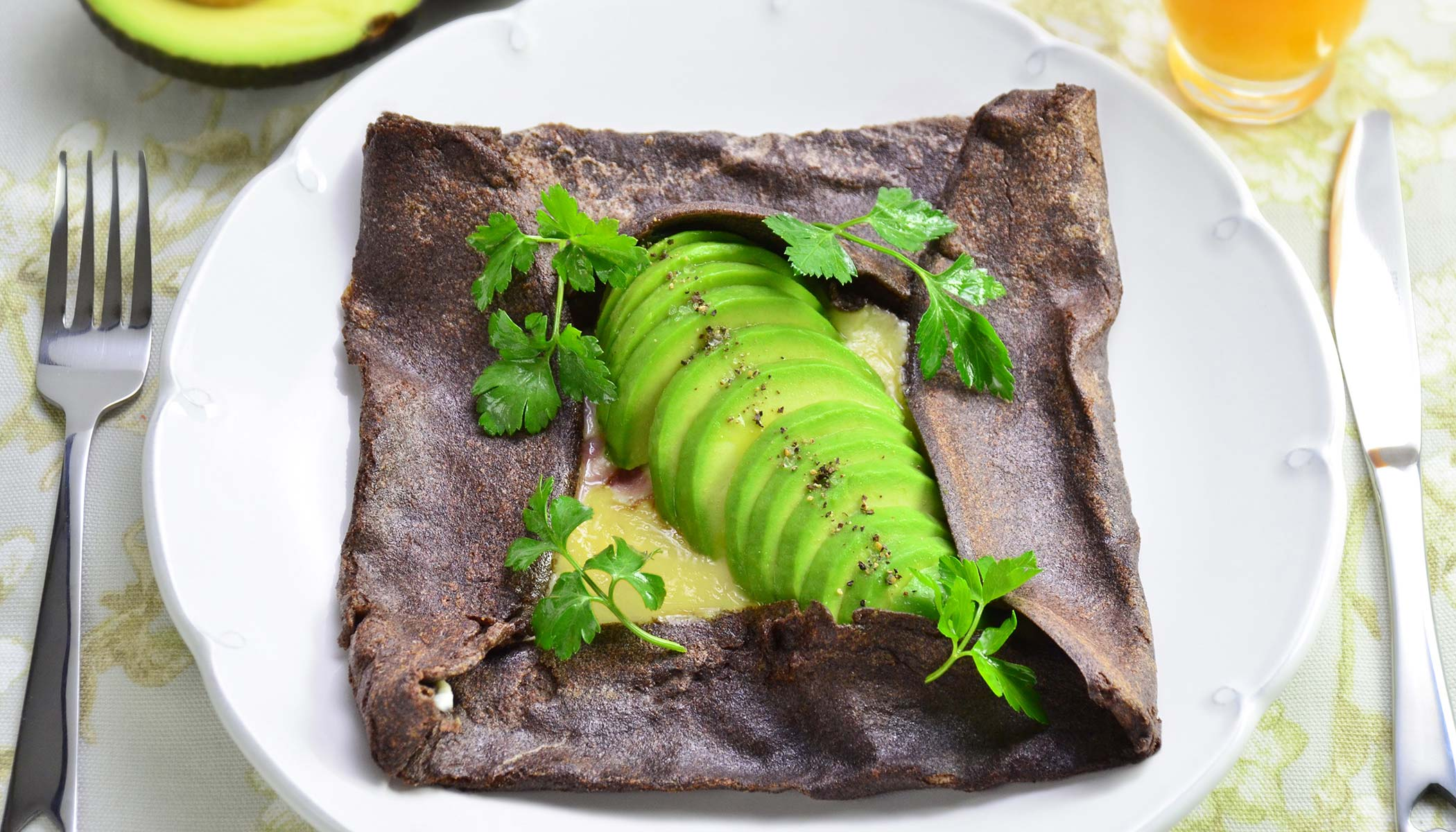 Ham and Egg Breakfast Galette with Avocado