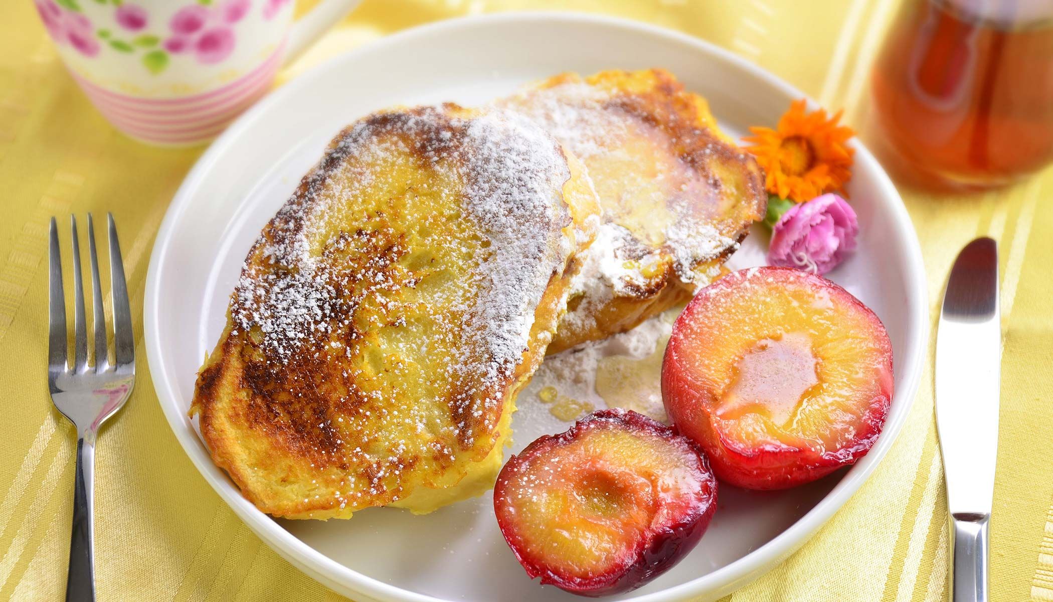Yogurt French Toast with Fruit