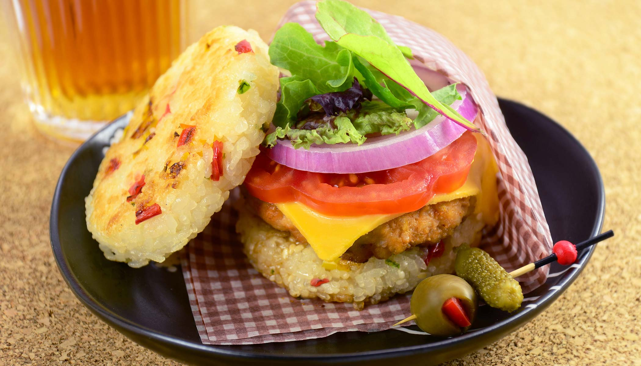 <i>Teriyaki</i> Rice Burger