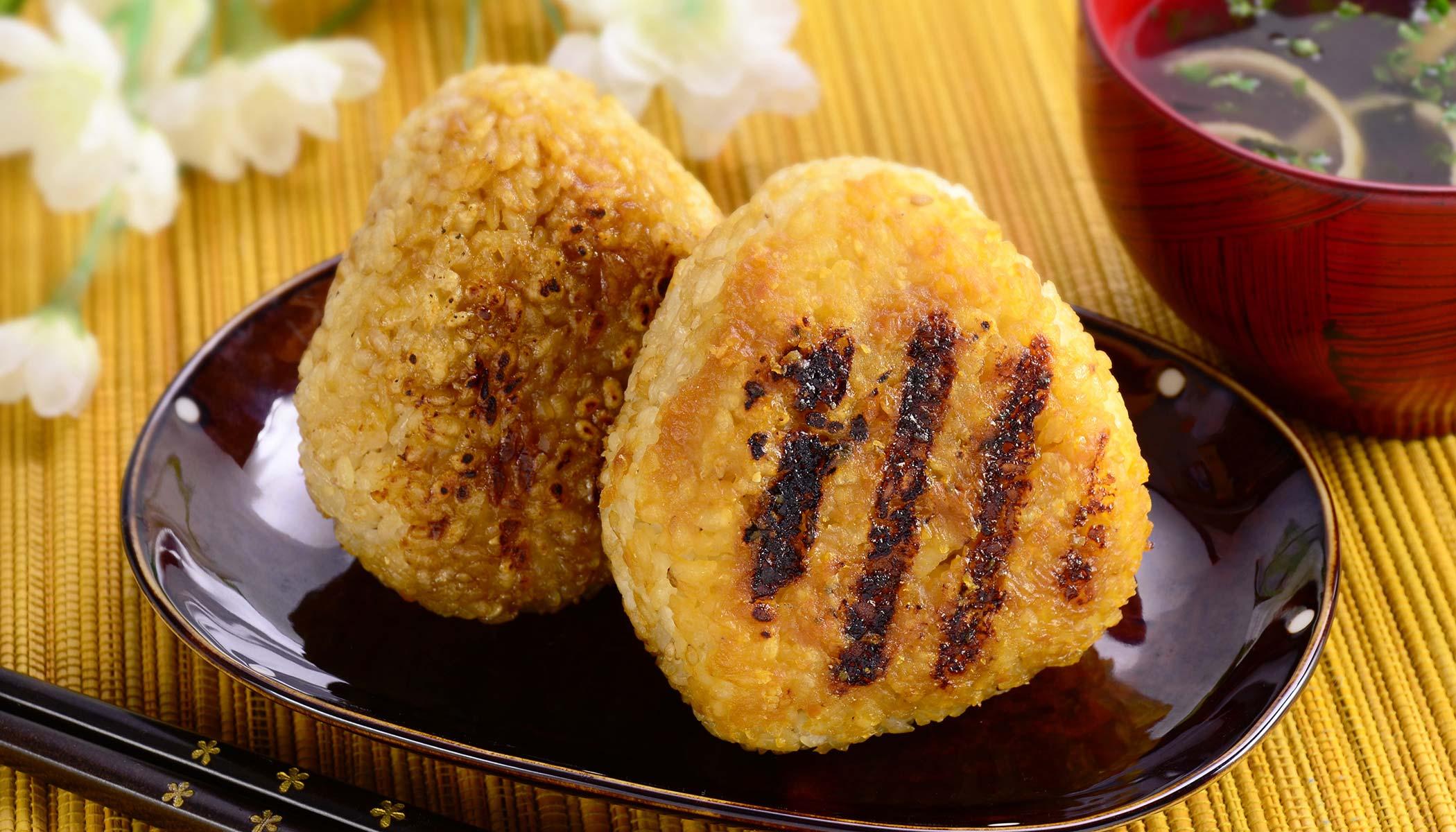 Crisp Grilled <i>Yaki</i>-<i>onigiri</i>