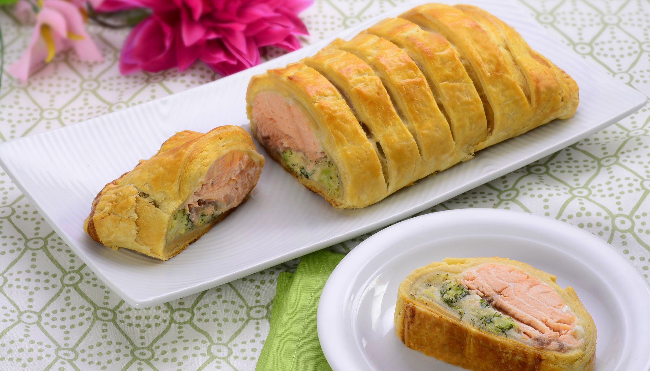 Broccoli Salmon Crescent Pocket