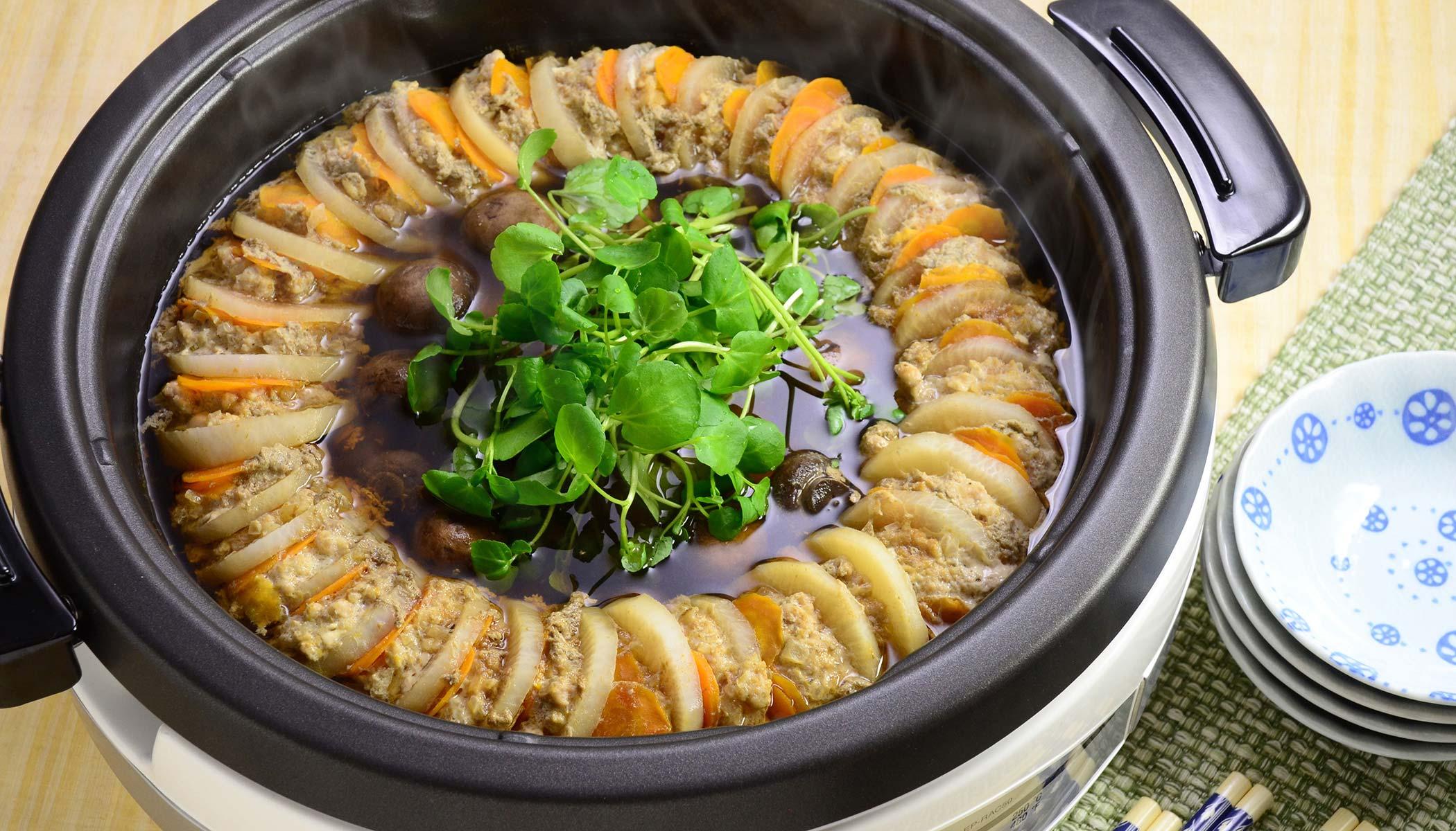 <i>Daikon</i> Pork Layered Hot Pot