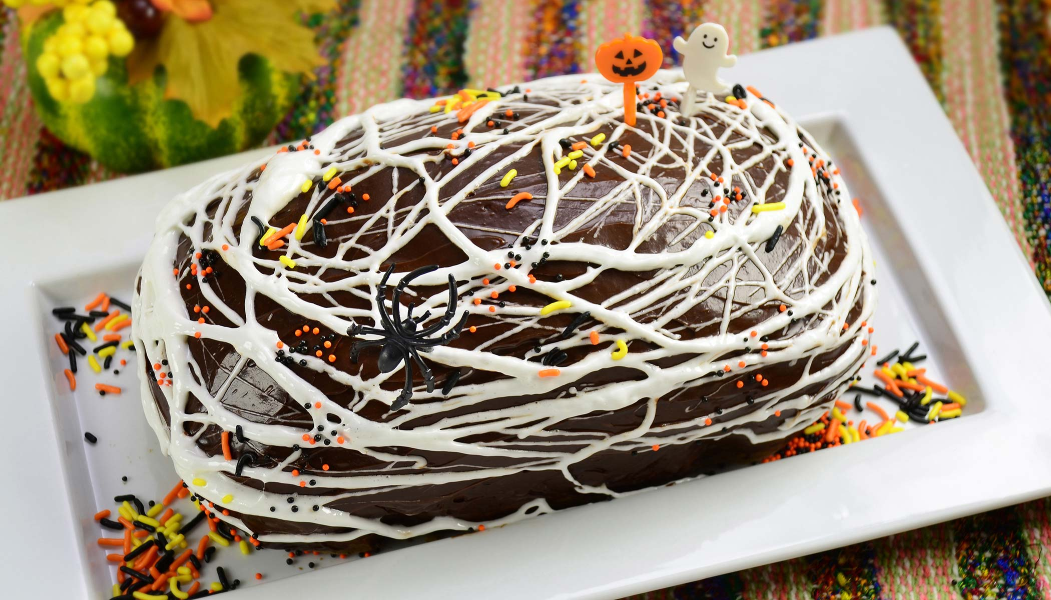 Halloween Spidery Spiced Zucchini Bread