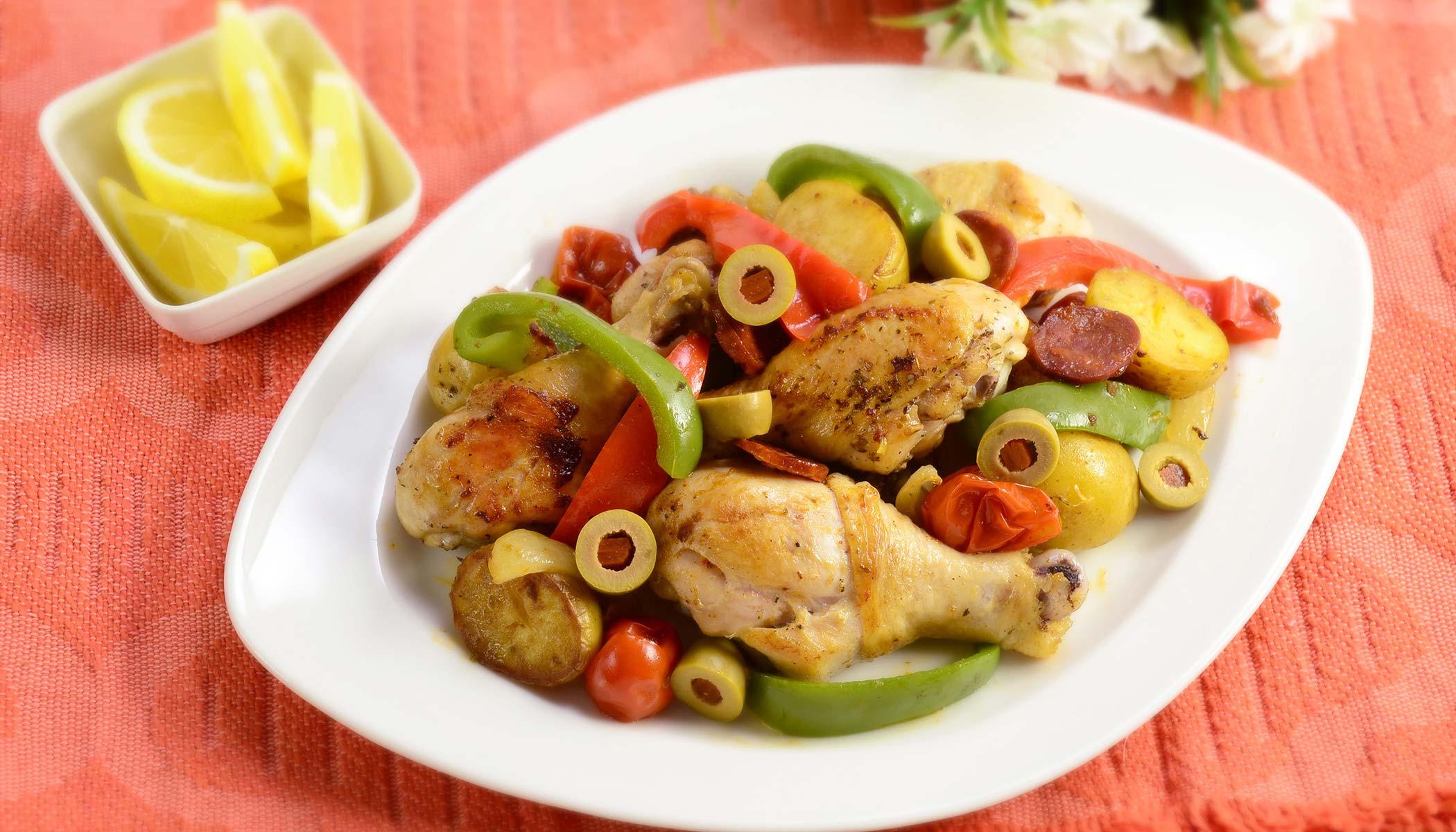 Spanish Chicken and Chorizo Grill