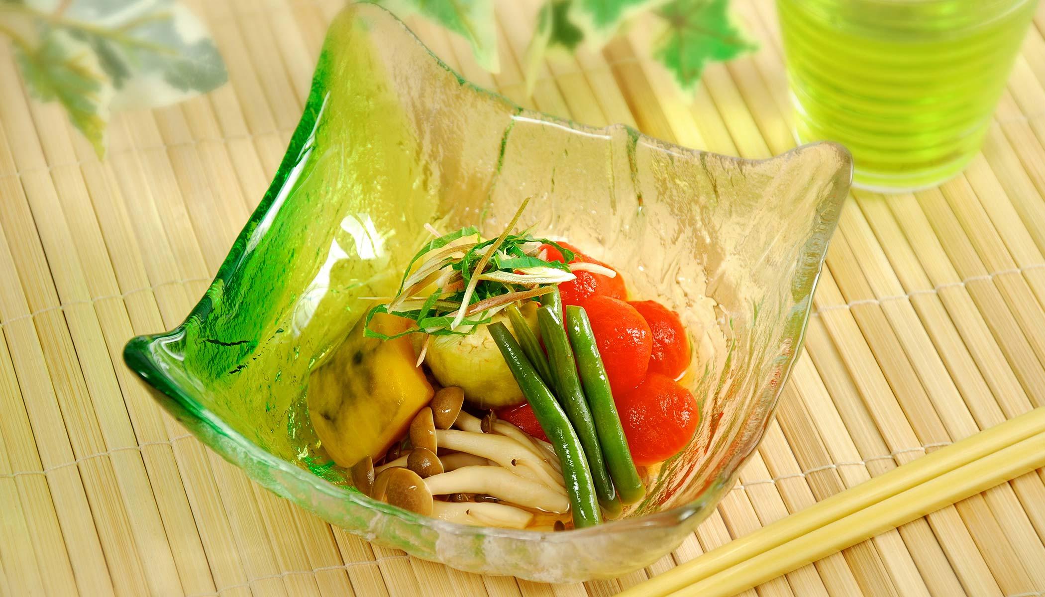 <i>Nimono</i> (Japanese Summer Vegetable Stew)