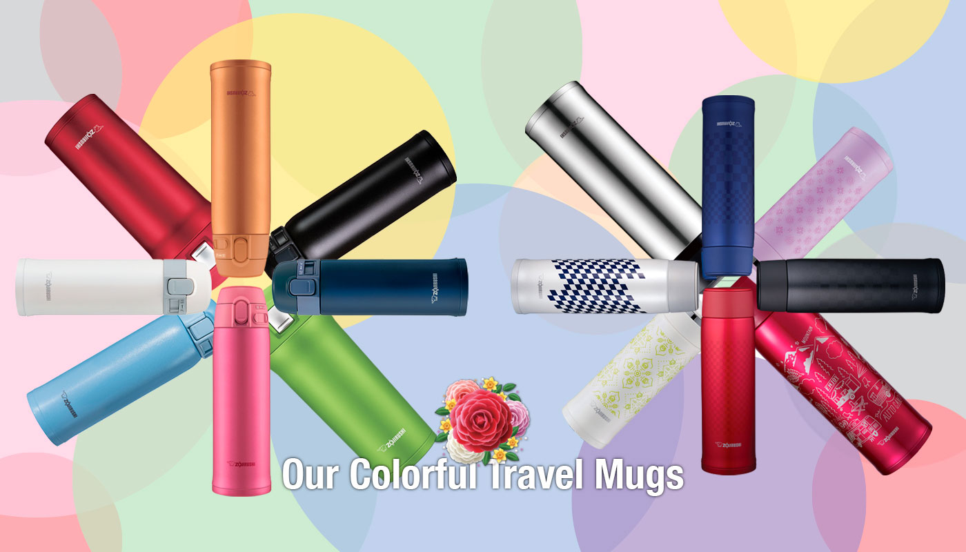 Our Colorful Travel Mugs