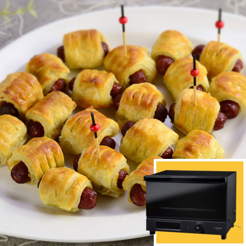 Toaster Oven + Pigs in a Blanket Recipe
