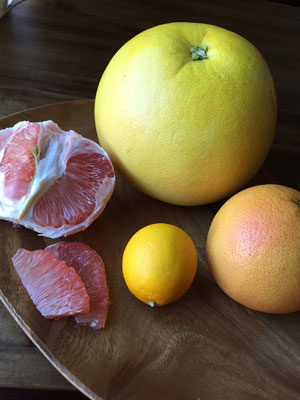 Pomelo, with grapefruit and lemon
