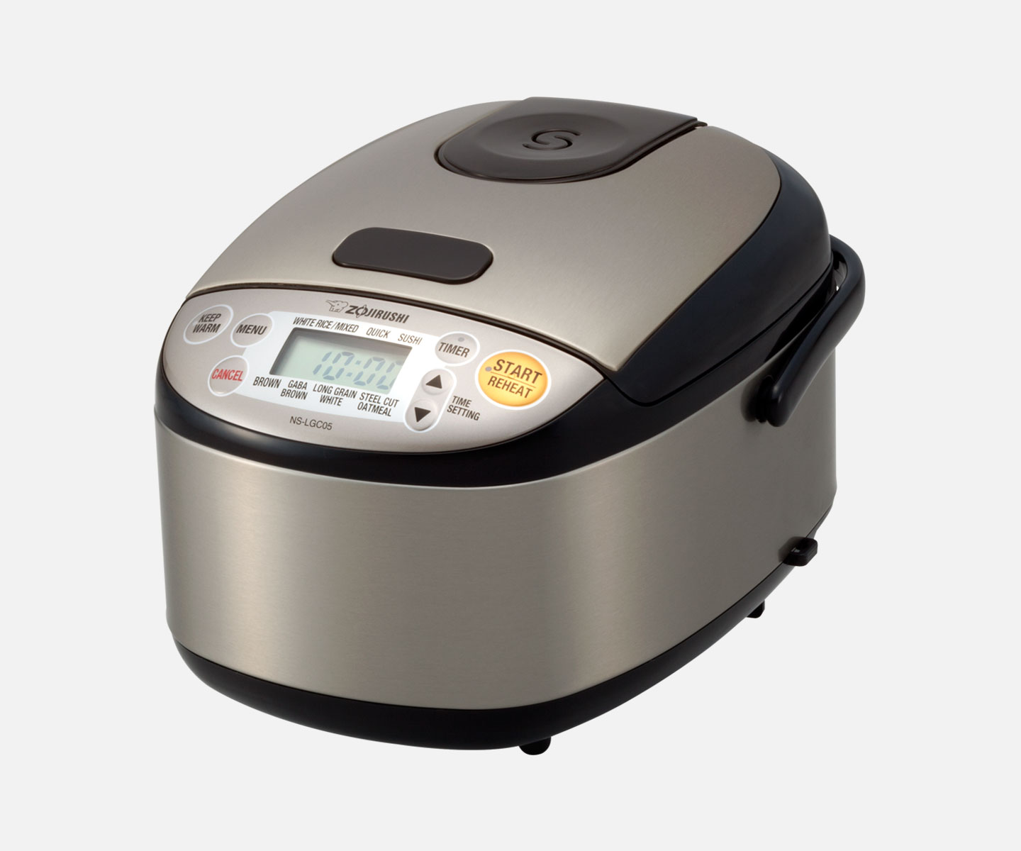 6b0c5af9088 The 3-cup Micom Rice Cooker   Warmer features an expanded menu with steel  cut oatmeal and GABA brown rice settings for more healthy options.