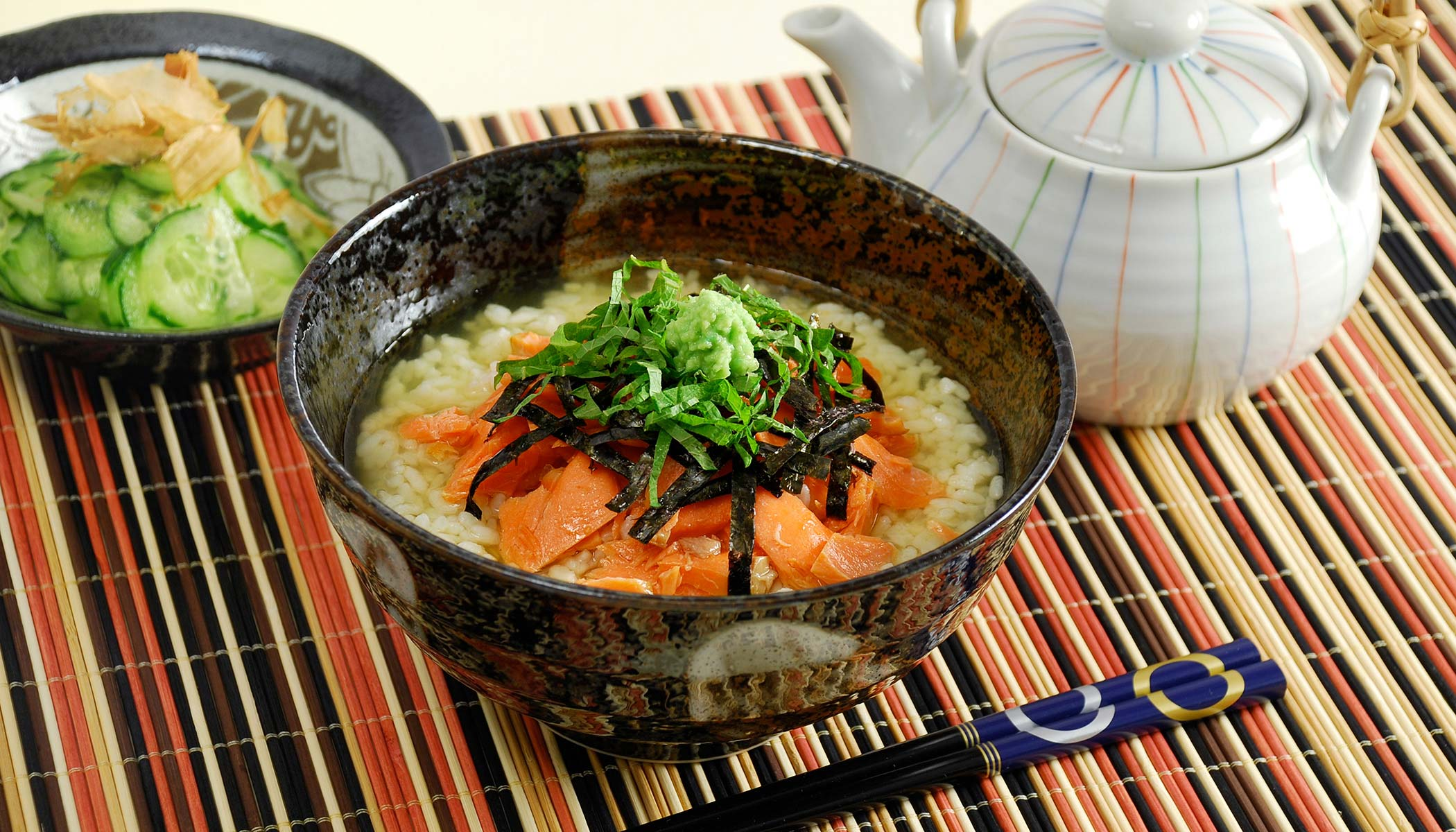 Salmon <i>Chazuke</i> (Green Tea Rice Soup)