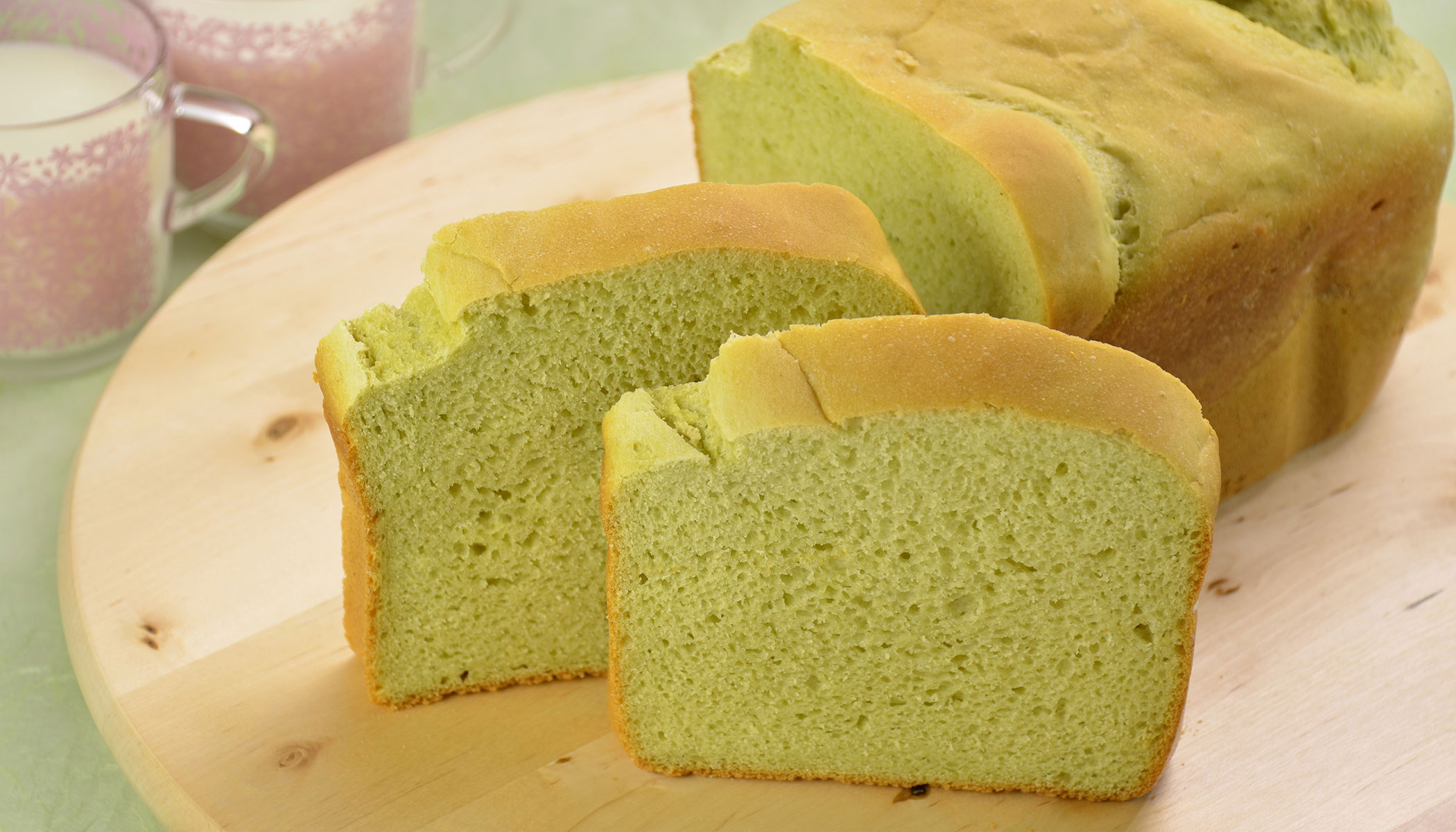 Gluten Free Green Tea Bread