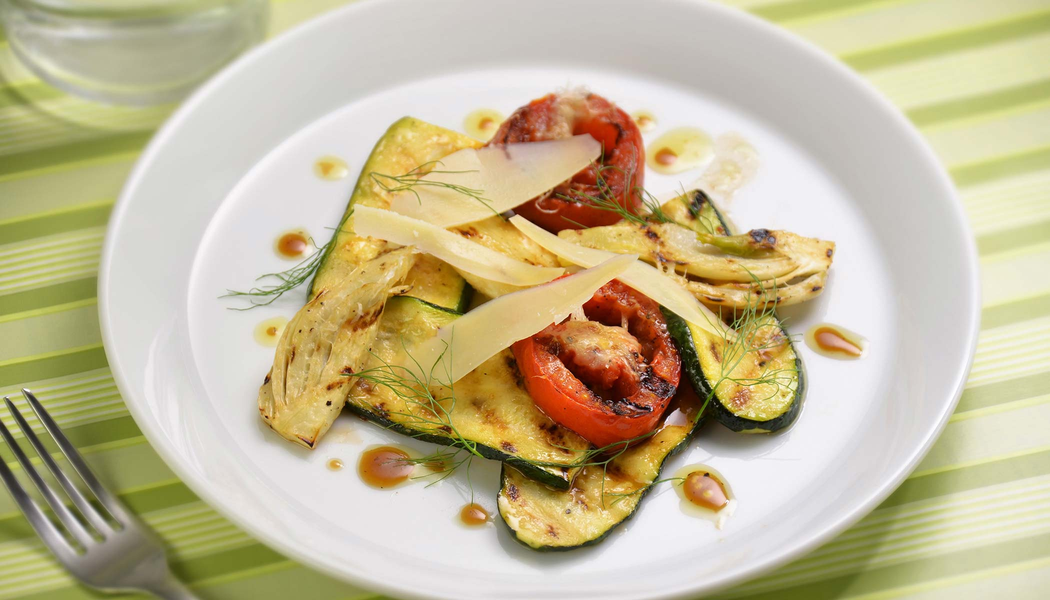 Grilled Vegetables with Parmesan Cheese