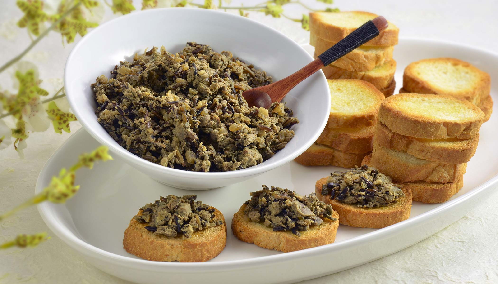 Wild Rice and Chicken Liver <i>Crostini</i>