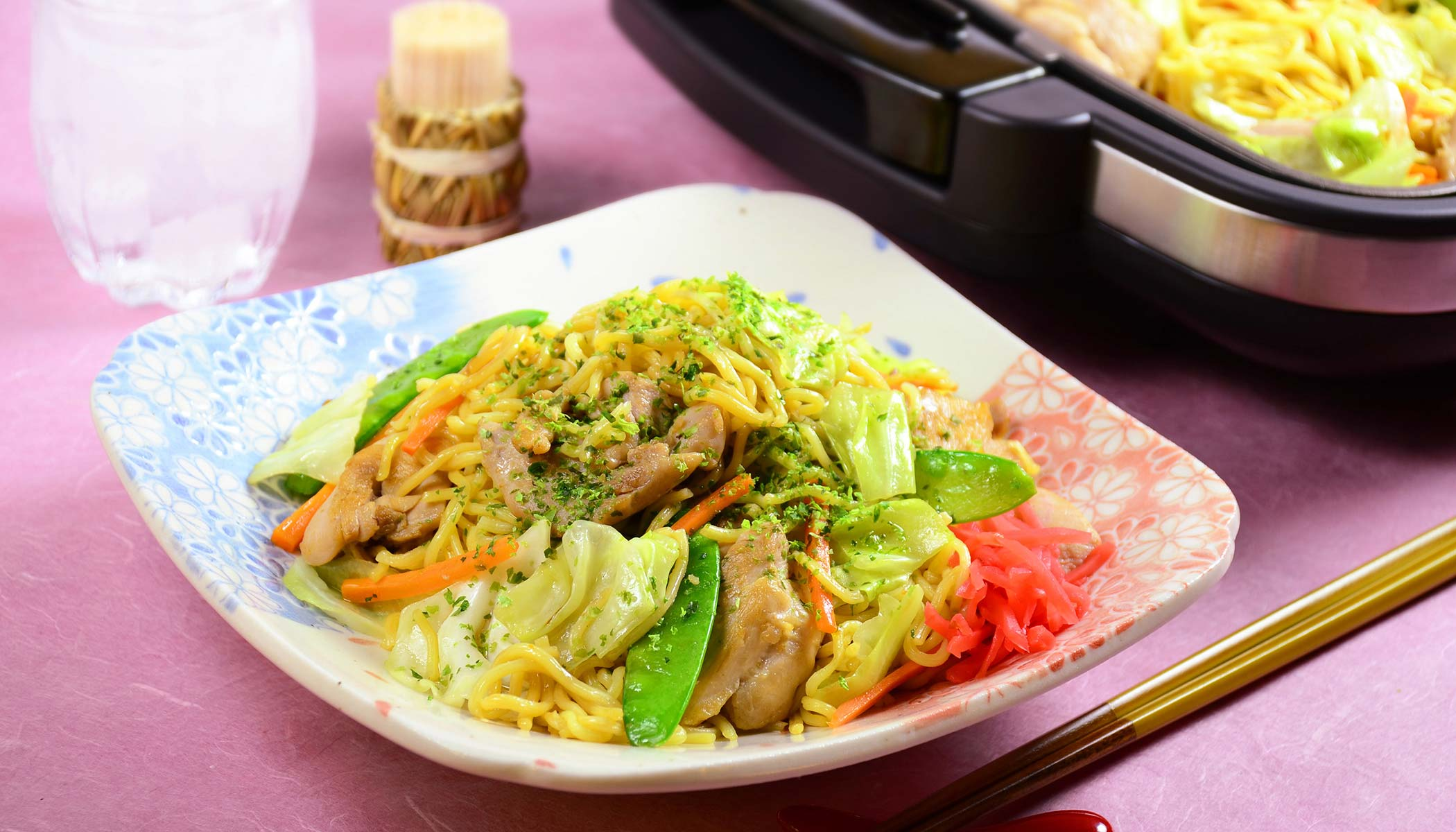 Chicken <i>Yakisoba</i> with Vegetables