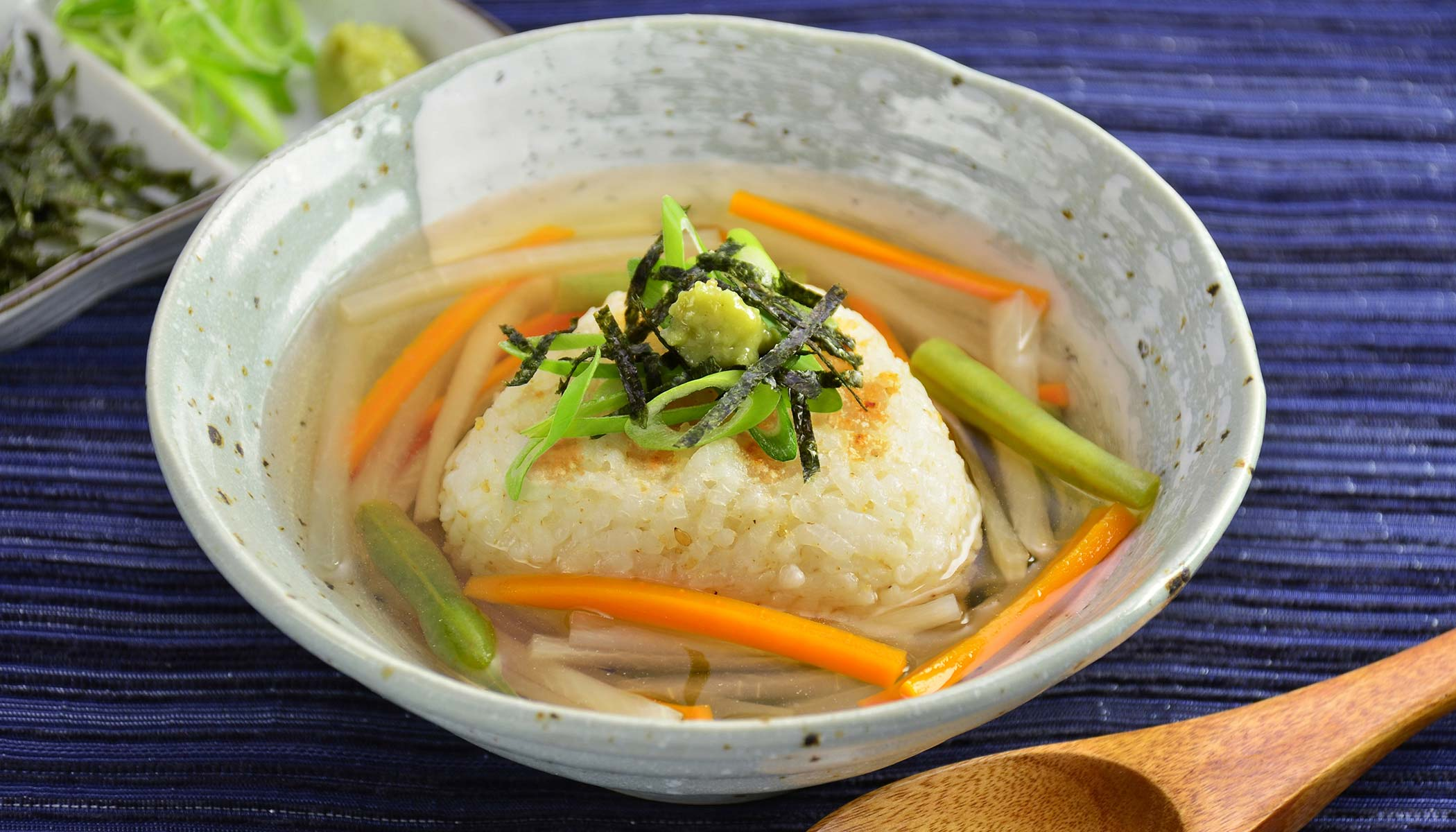 <i>Yaki</i>-<i>Onigiri Chazuke</i> (Grilled Rice Ball Soup)