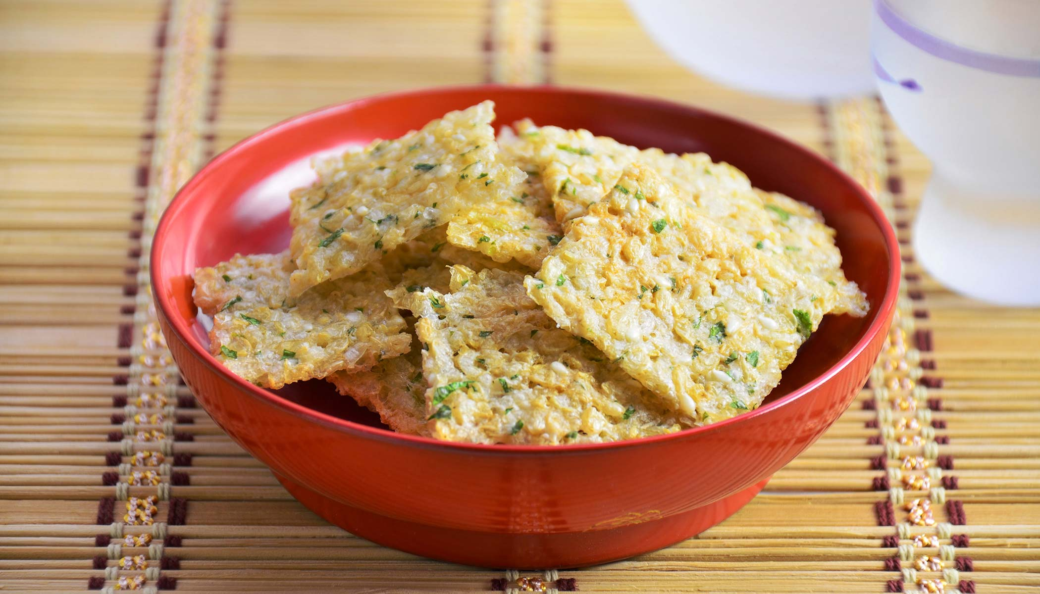 Cheese <i>Senbei</i> (Rice Crackers)