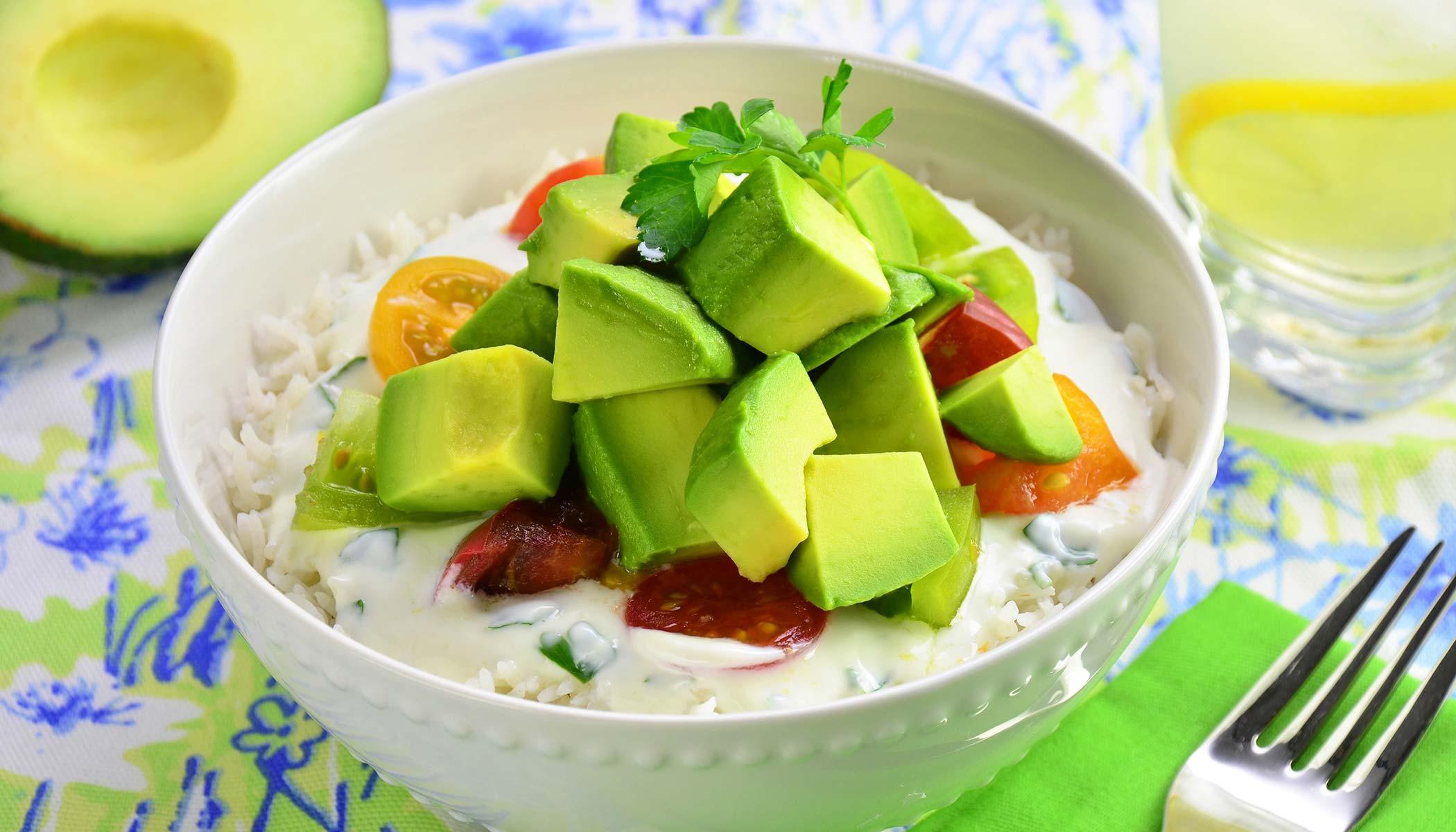 Avocado Bowl with Yogurt Sauce