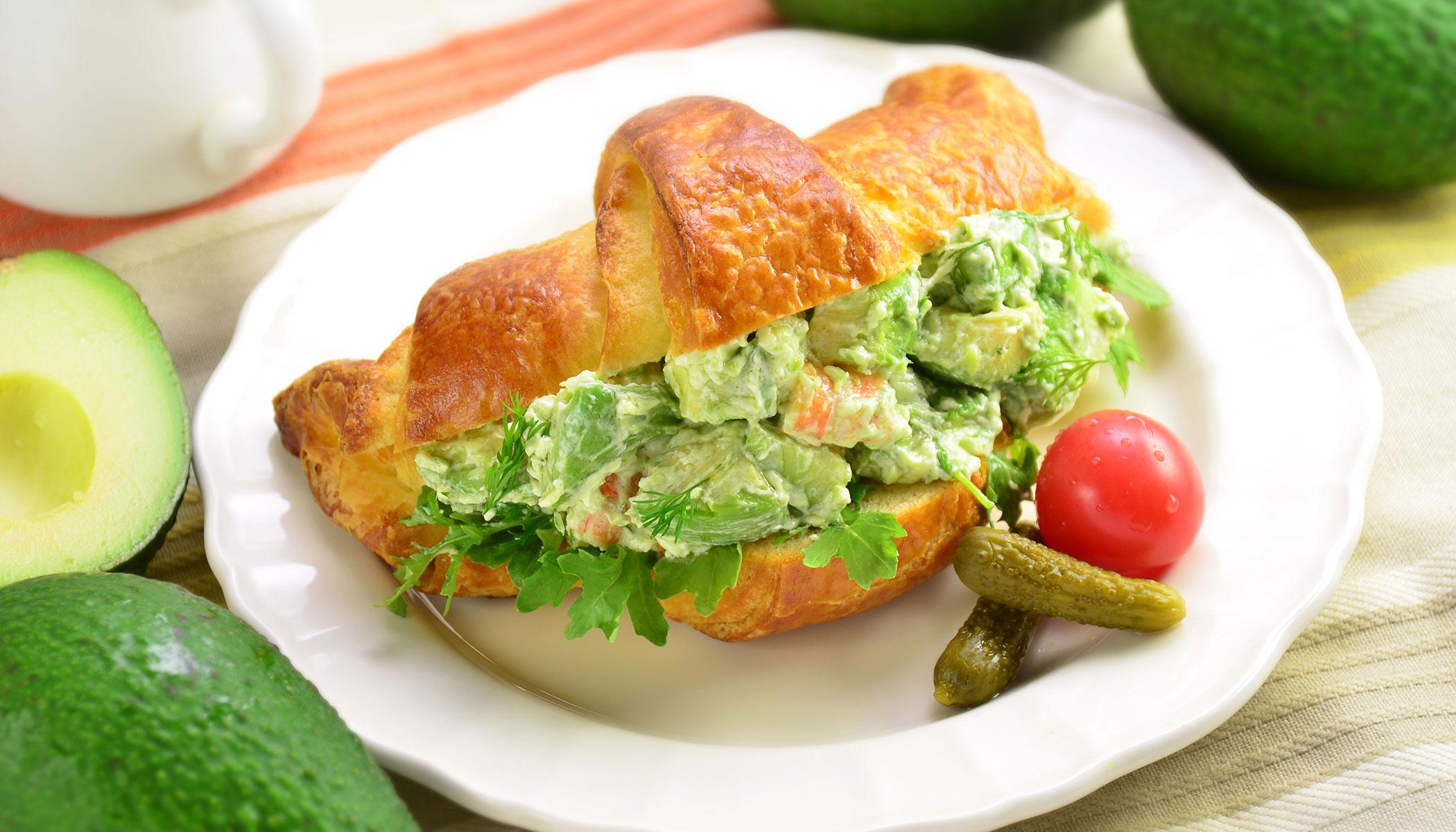 Avocado Shrimp Croissant Sandwich