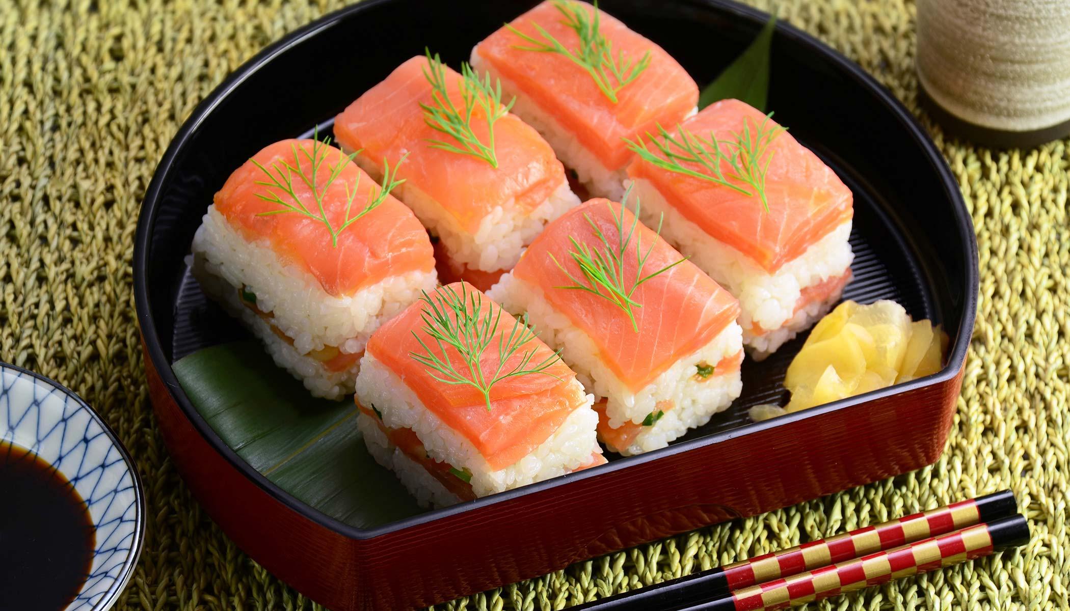 Smoked Salmon <i>Sushi</i> Style