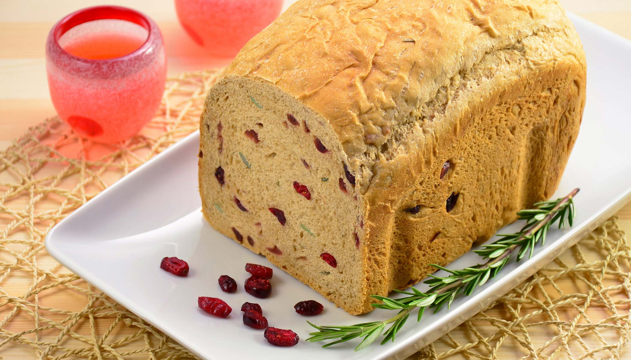 Rosemary Cranberry Whole Wheat Bread