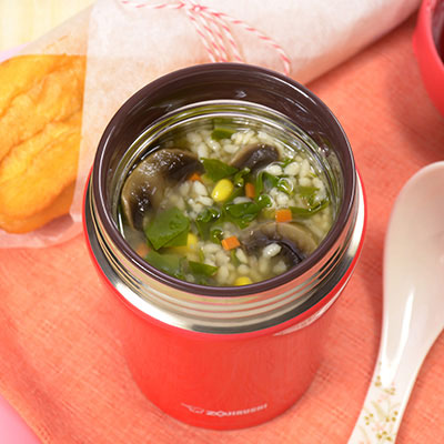 Vacuum insulated food jars recipes zojirushi thick and hearty veggie porridge forumfinder Image collections