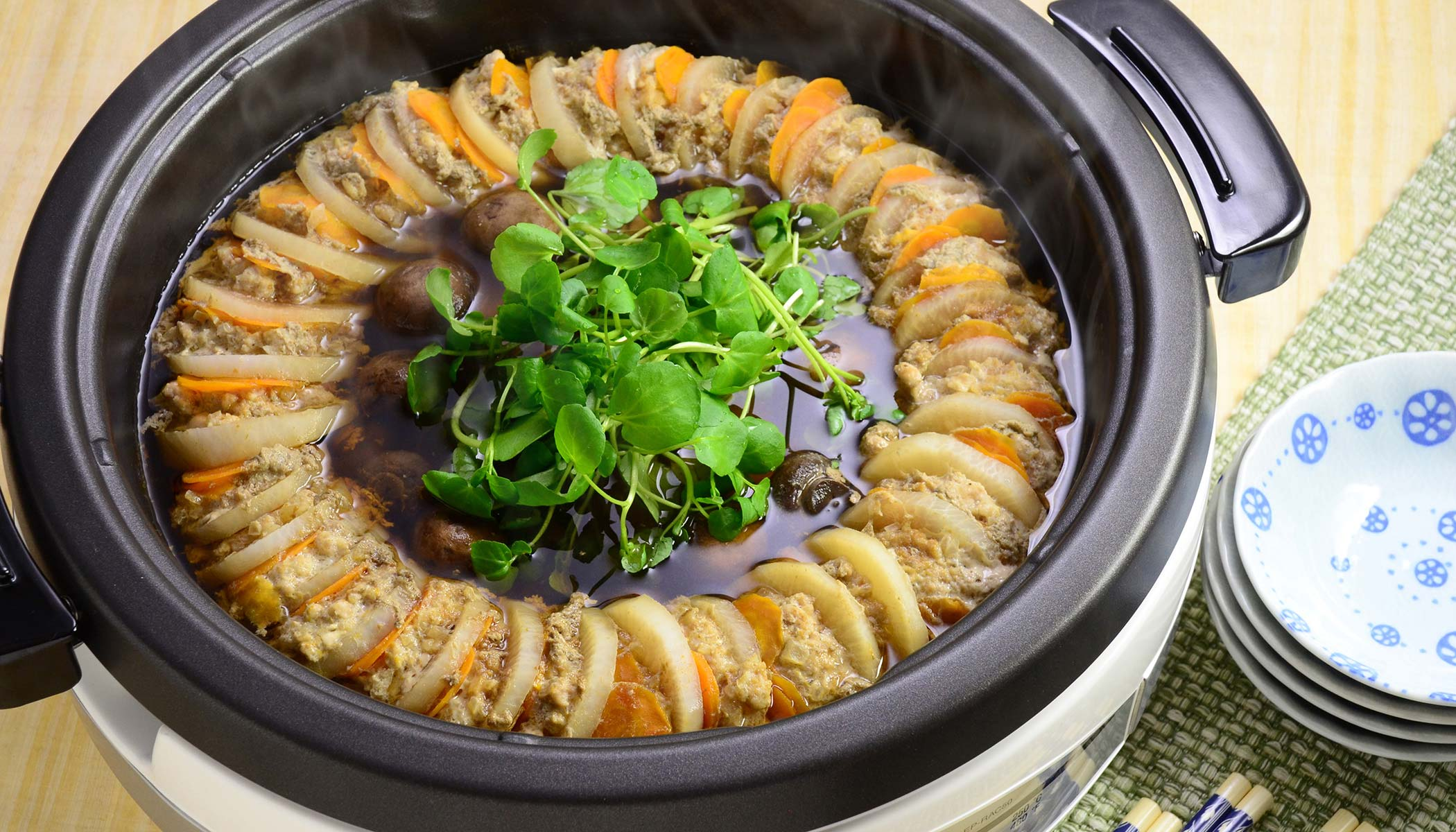 <i>Daikon</i> Pork Layered Hot Pot