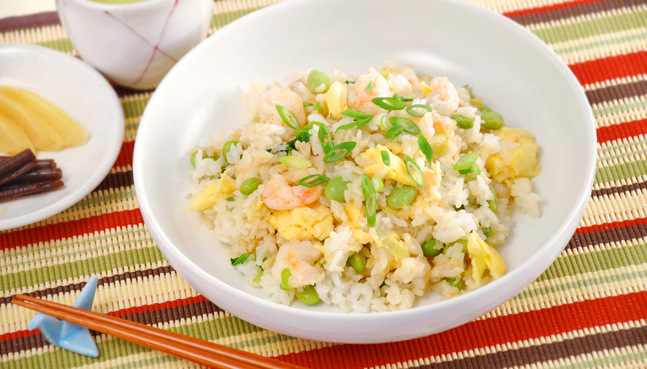Shrimp <i>Yakimeshi</i>, Stir-Fried Rice
