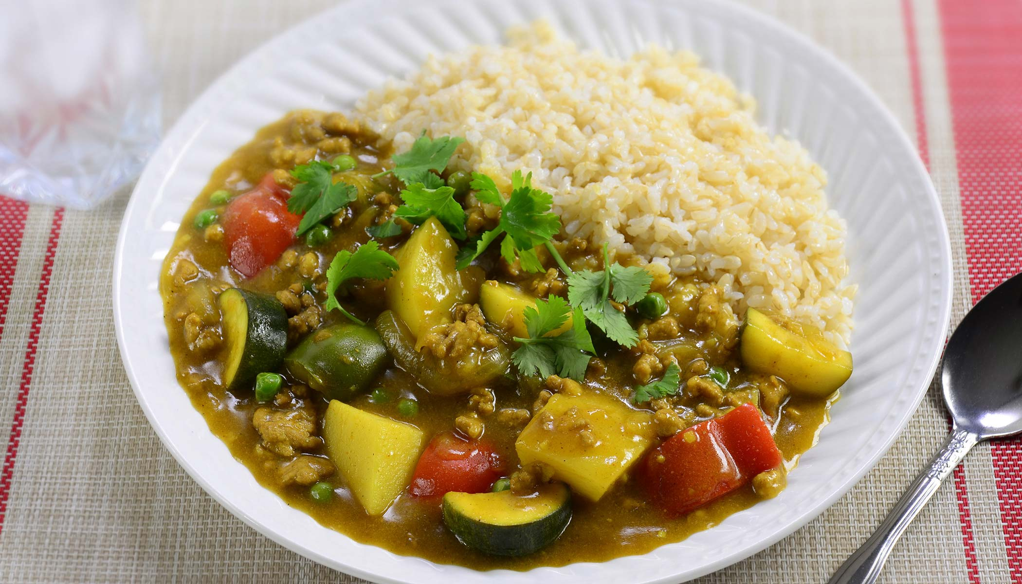 Summer Curry with Brown Rice