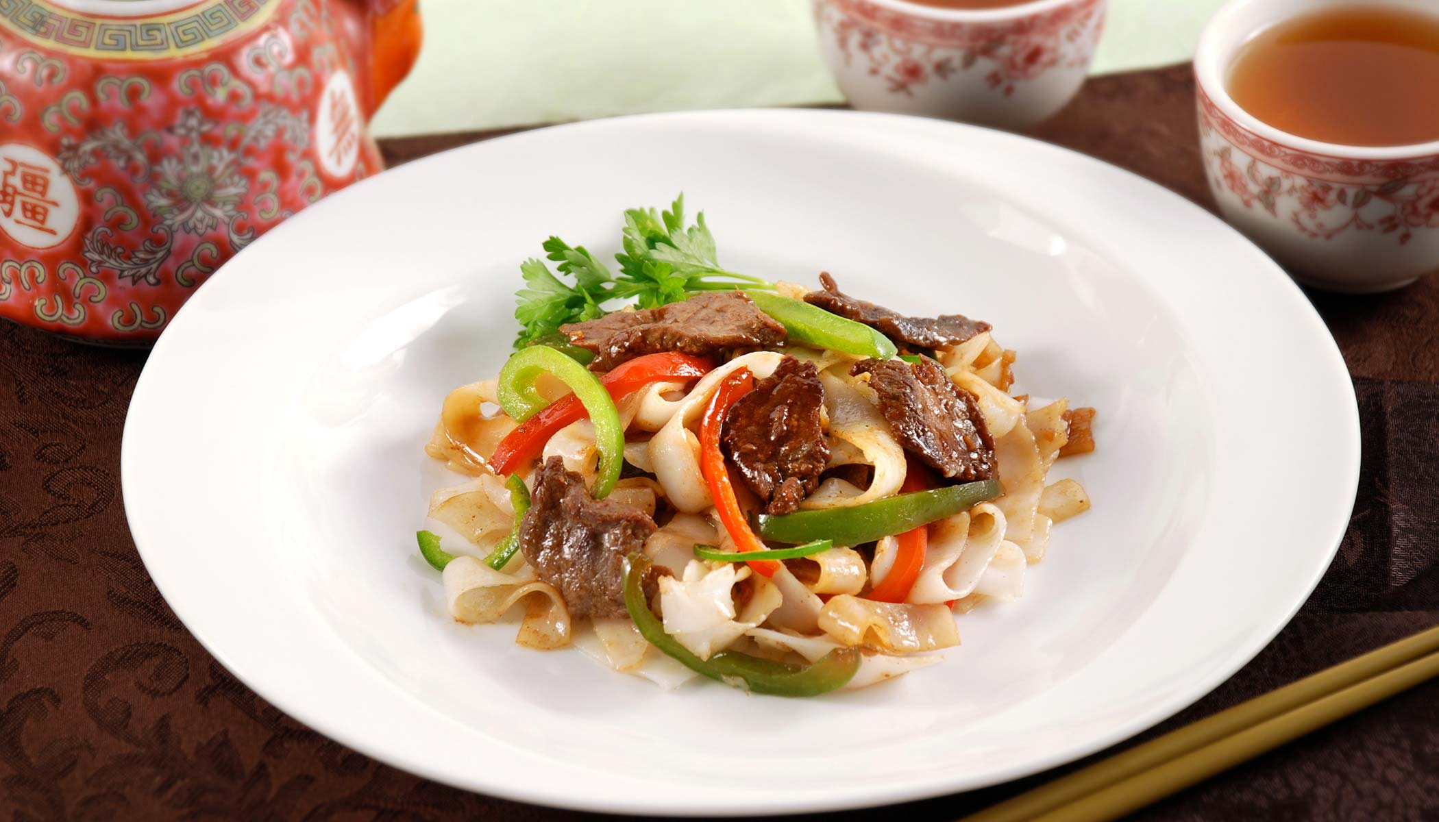 Pepper Beef Chow Fun (Rice Noodles)