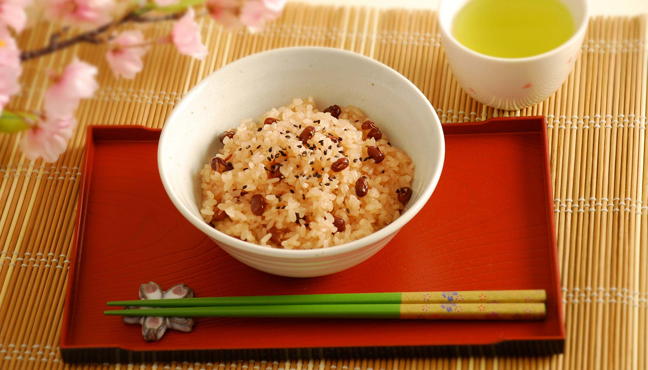 Sweet Rice Cooked with Adzuki Beans