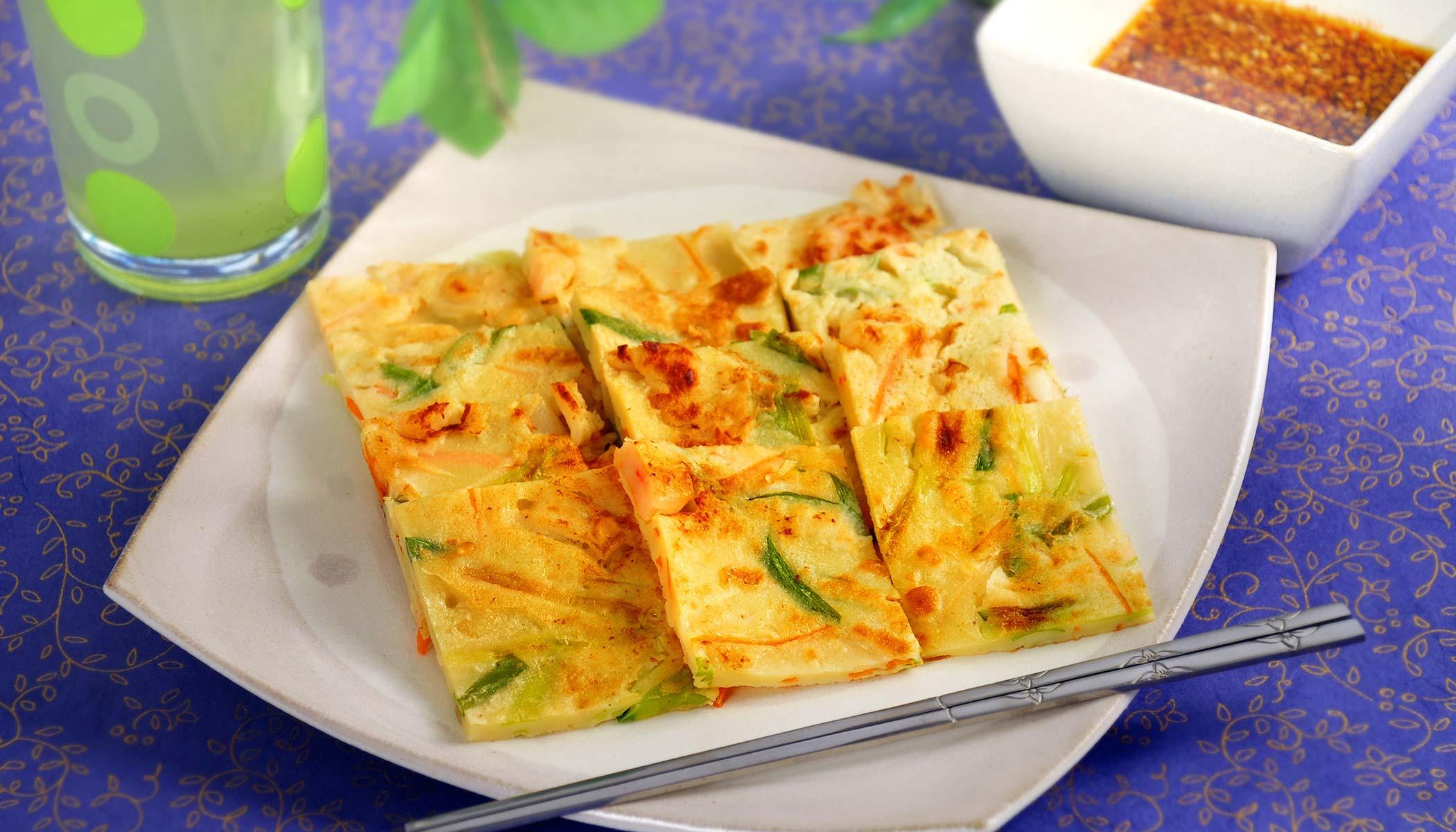 Seafood Jeon (Korean-Style Pancakes)
