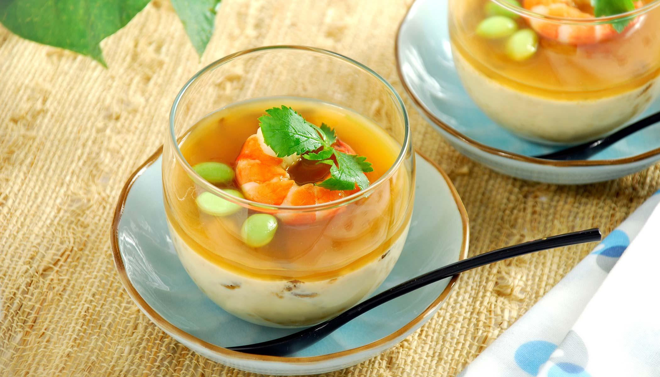 <i>Hiyashi Chawanmushi</i> (Japanese Cold Egg Custard)